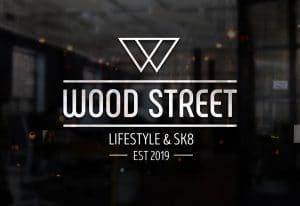 création du logo Woodstreet, magasin de skateboard et streetwear à Monistrol-sur-Loire