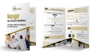 plaquette commerciale Déclic Comportement : création graphique par Claire Barbier, Good Day communication - Graphiste à Saint-Etienne