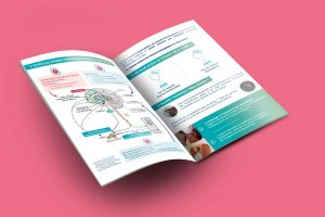 création d'une plaquette publicitaire pour Pranavat, massage lymphatique. Mise en page et création graphique, communication.