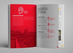 intérieur projet urbain, mise en page du magazine, création graphique