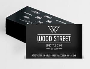 carte de visite Wood Street, ministral-sur loire près du Puy en Velay en Haute-Loire