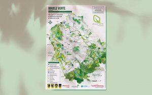 création de la carte de randonnée pédestre : boucle verte de St Etienne