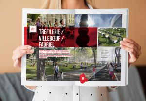 projet urbain Saint-Etienne, mise en page et création graphique